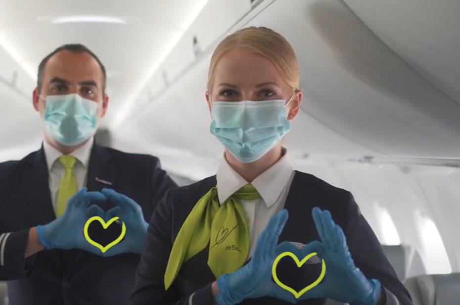 Самолеты латвийской авиакомпании airBaltic летят в обход Белоруссии