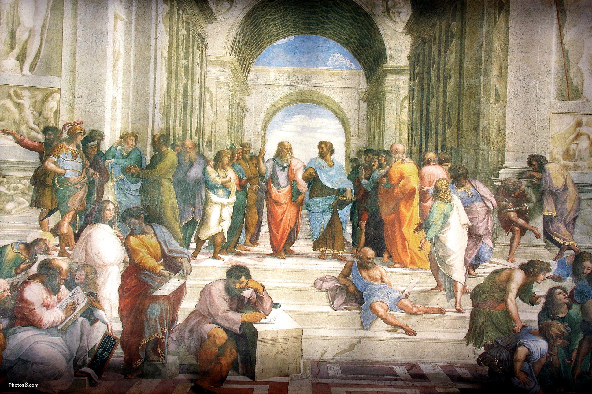 «Афинская школа» – фреска работы Рафаэля Санти в Станца делла Сеньятура