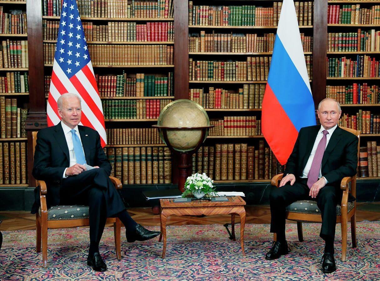 Путин и Байден в Женеве