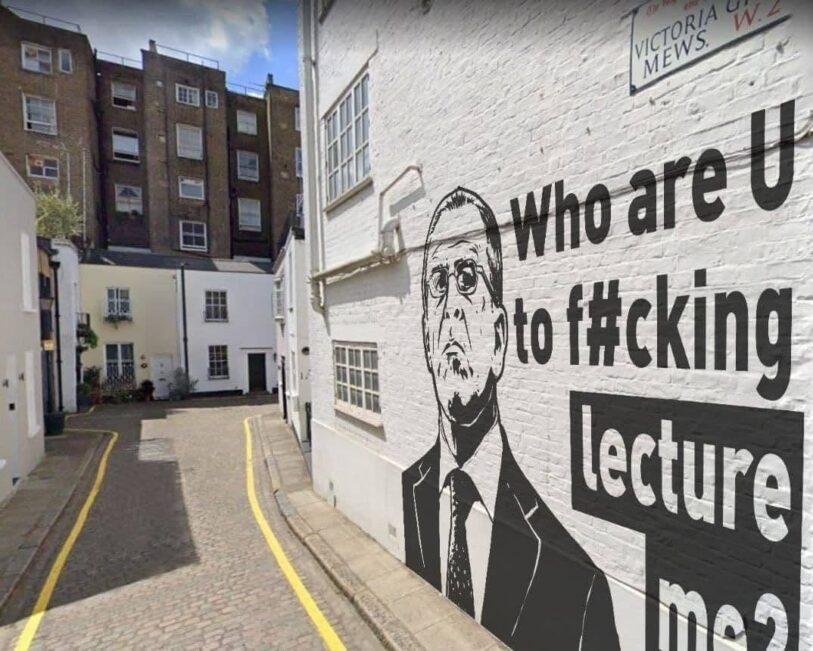 Граффити, которого нет: Сергея Лаврова в Лондоне не оказалось