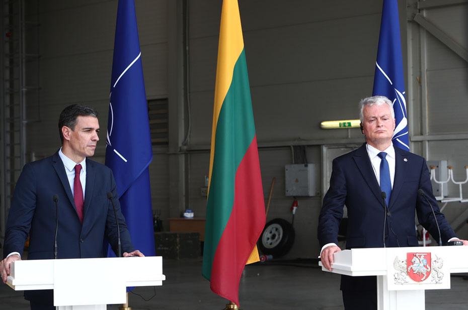 Пресс-конференцию премьера Испании и президента Литвы прервали из-за российского самолета
