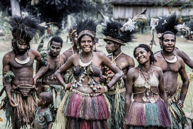 Папуасы из Папуа – Новой Гвинеи