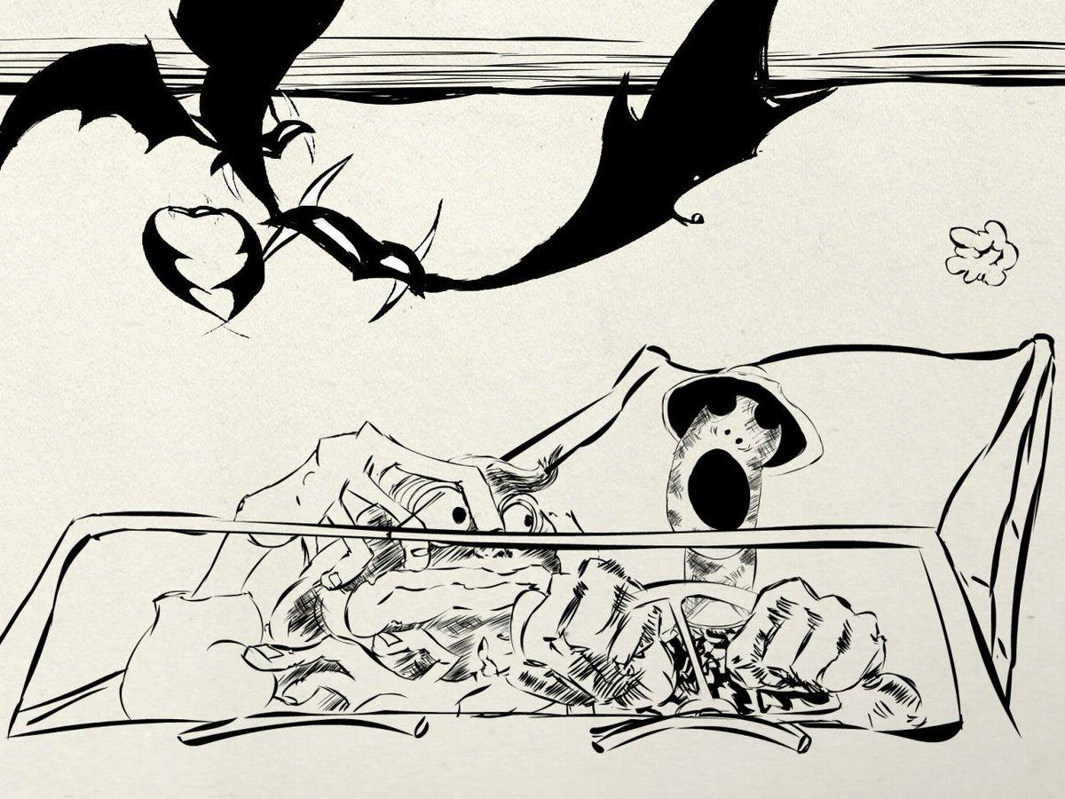 Иллюстрация Ральфа Стедмана к культовому роману Хантера С. Томпсона «Страх и отвращение в Лас-Вегасе»