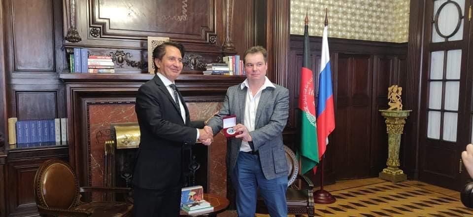 Писатель Павел Зарифуллин получил от посольства Афганистана медаль