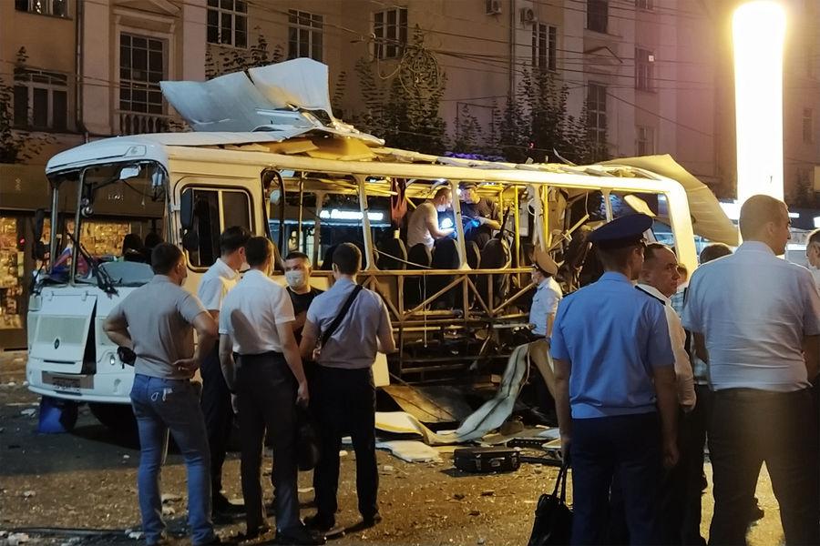 Названа предварительная причина взрыва автобуса в Воронеже