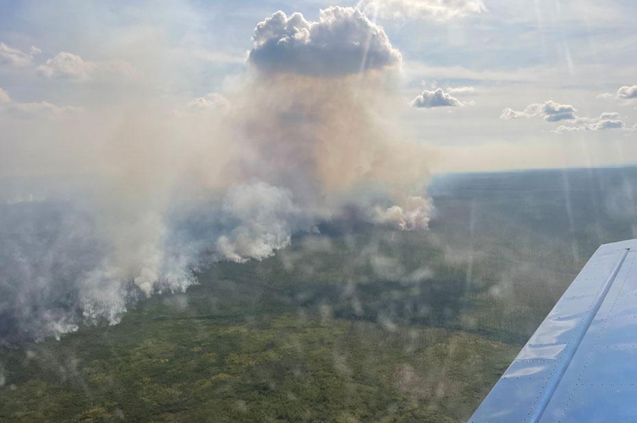 Во время авиапатрулирования обнаружены новые очаги возгорания в Нижегородской области