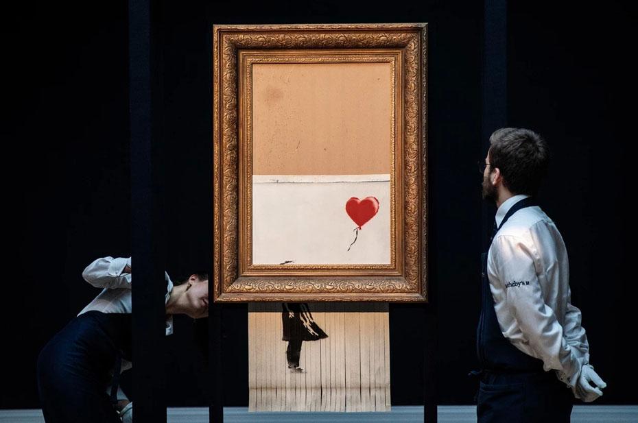 А это искусство? Скандальная работа Бэнкси снова выставлена на торги в Лондоне
