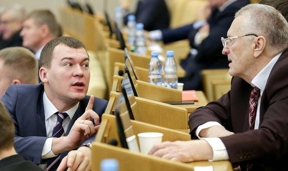 Жириновский признал, что Дегтярева не надо было направлять в Хабаровск