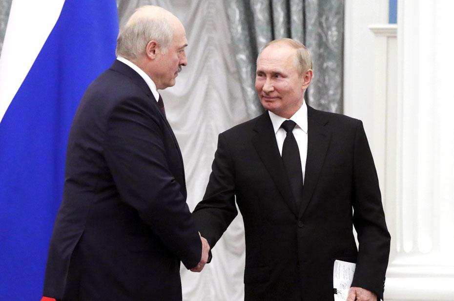 В Кремле идут переговоры Владимира Путина и Александра Лукашенко