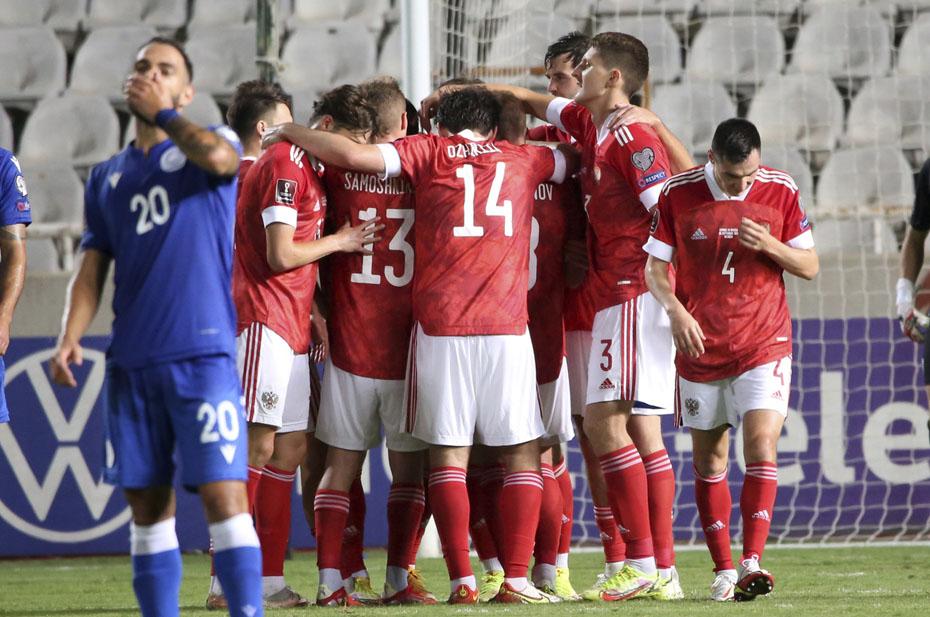Сборная России вышла на первое место в группе отбора ЧМ-2022